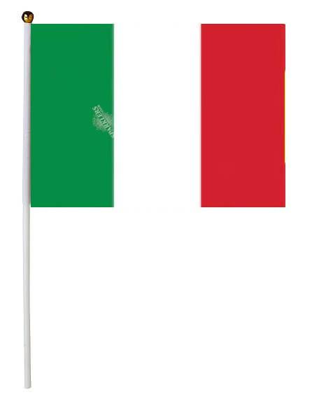 Drapeau Italie 30x45cm avec baguette