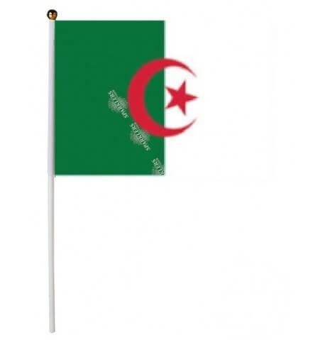 Drapeau Algérie 30x45cm avec baguette