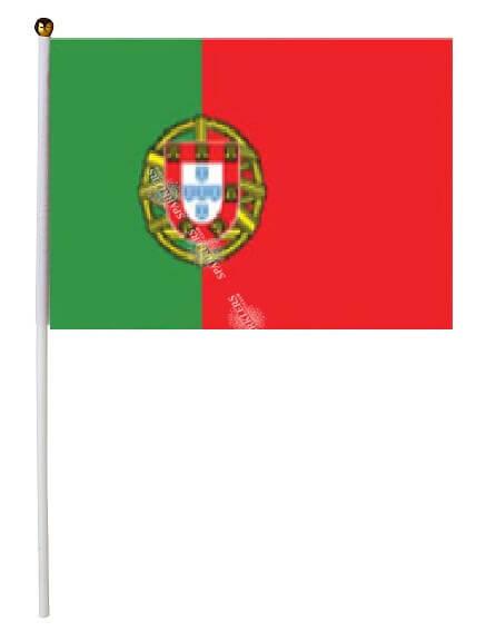 Lot de 12 Drapeaux Portugal 15x22cm