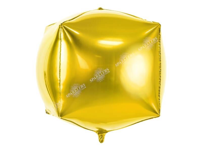 Ballon Cube métallique Or