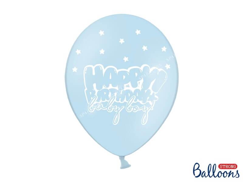 "Lot de 10 Ballons ""HAPPY BIRTHDAY BABY BOY"" Bleus"