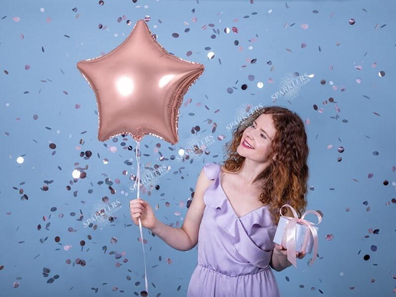 Ballon Étoile métallique Or Rose 48cm