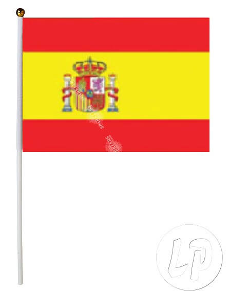 Lot de 12 Drapeaux Espagne 15x22cm