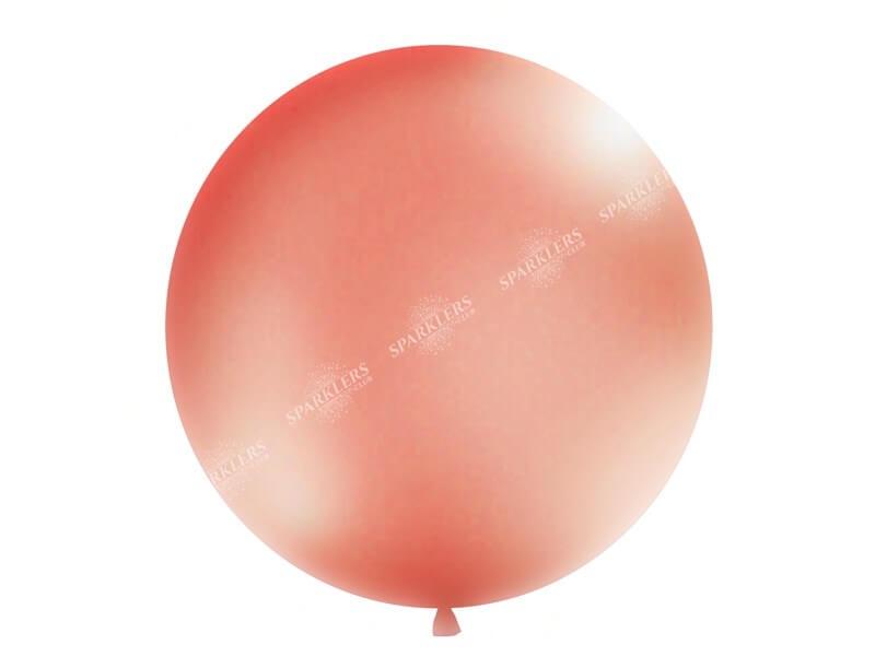 Ballon géant 100cm Or Rose Métallique
