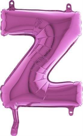 Ballon Lettre Z Rose - 35cm