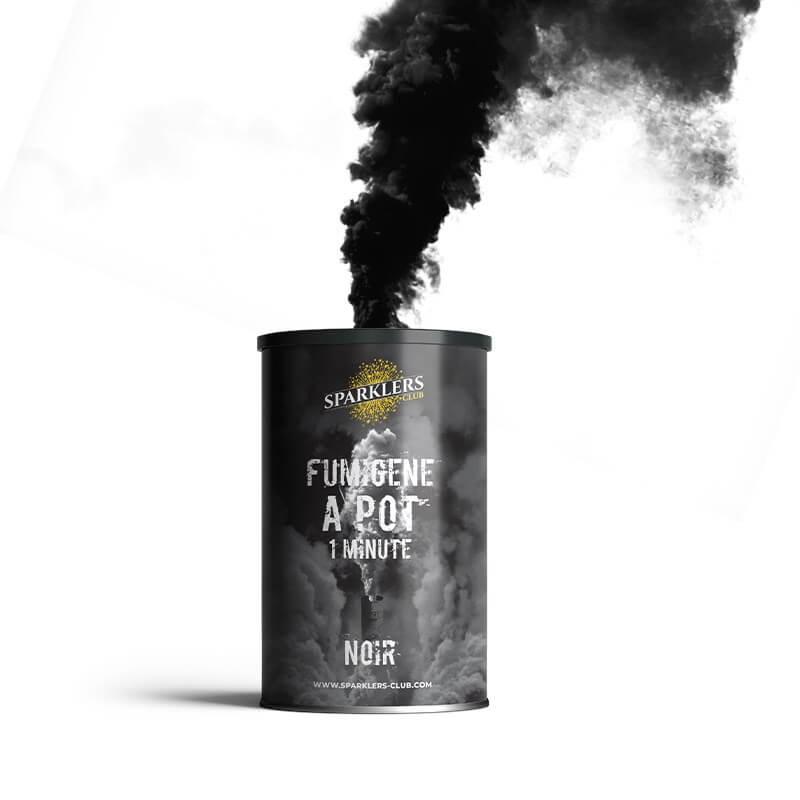 Fumigène en pot 1 minute Noir (à poser au sol)
