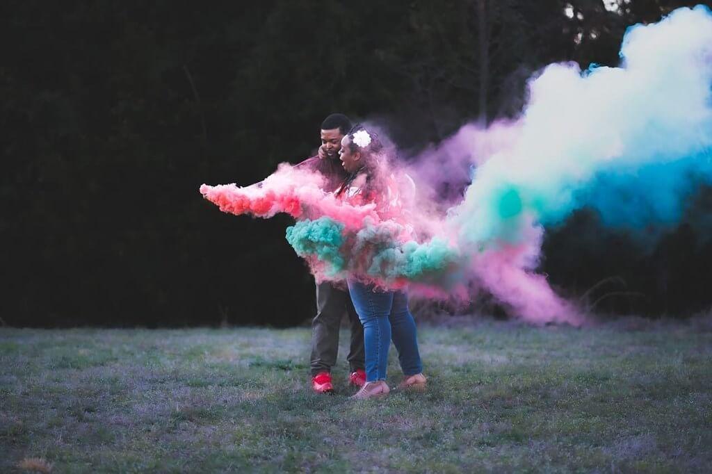 Fumigène à main Goupille 1 minute Bleu