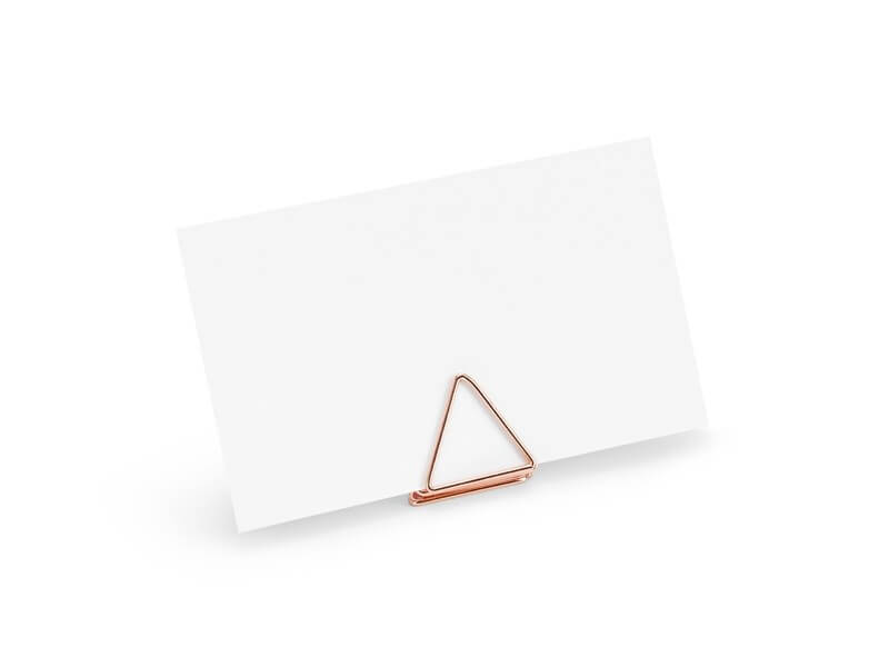 Porte marque place triangle en OR ROSE x10