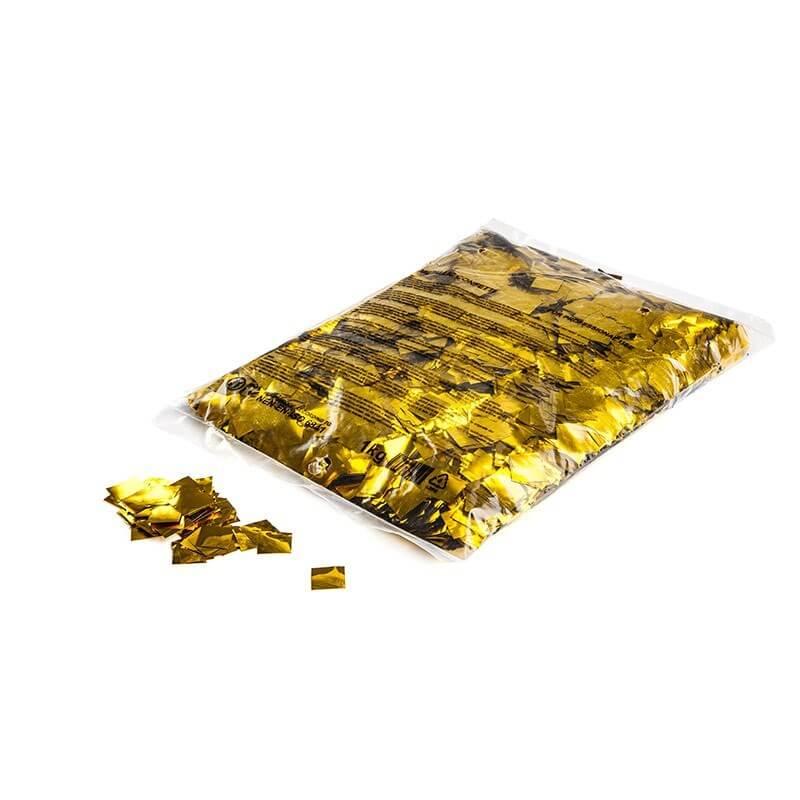 Sac 1KG confettis or métallique Carré 17X17mm Magic FX