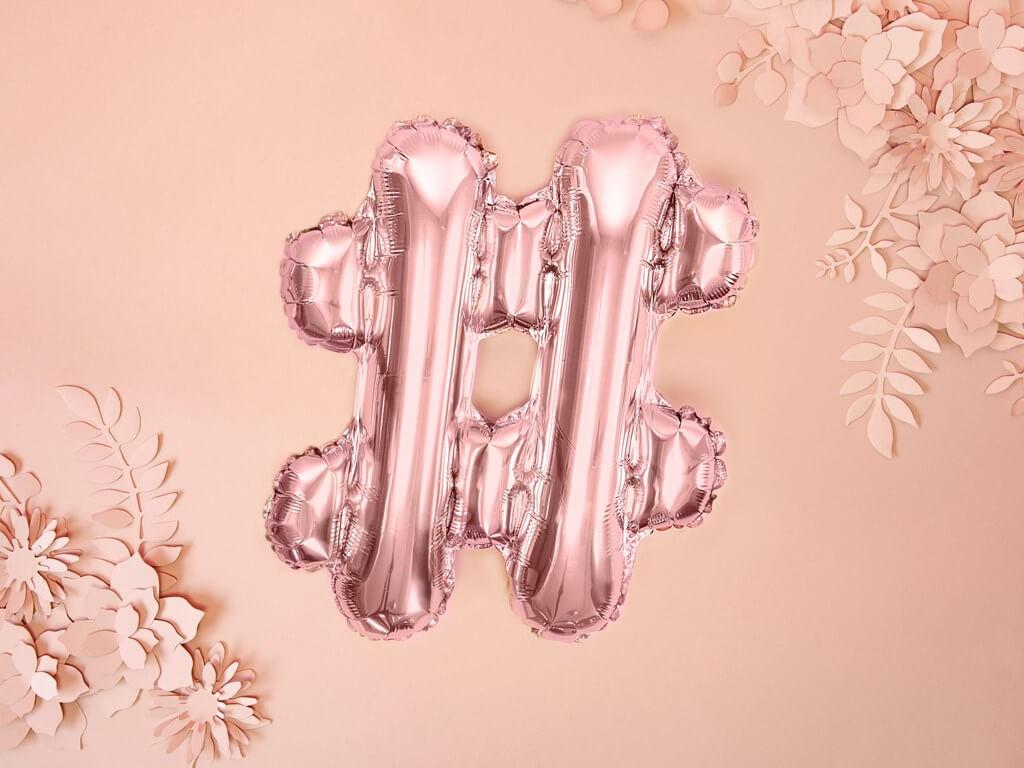 Ballon # Or Rose 35cm