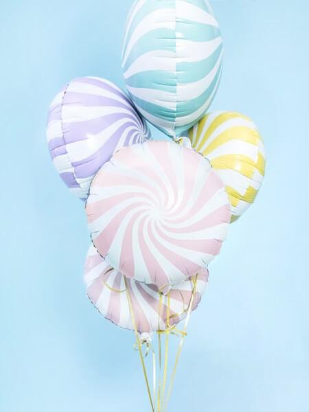 Ballon Aluminium Sucette Jaune et Blanc 45cm