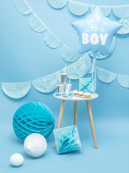 """Ballon Etoile Bleu """"It's a Boy"""" 45cm"""