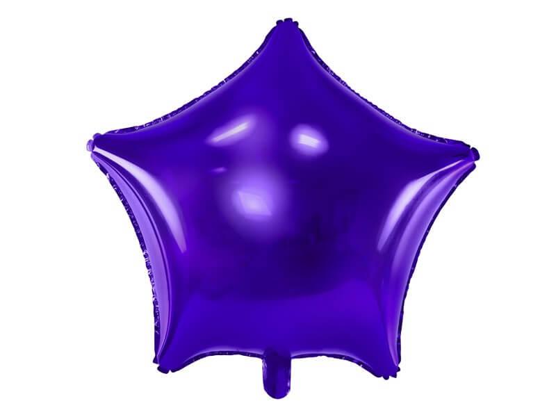 Ballon Étoile métallique Violet 48cm