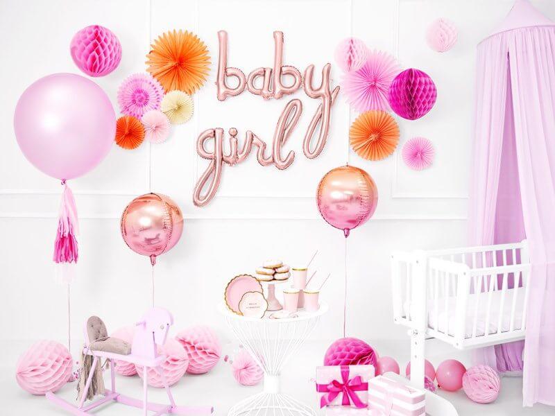 Ballon Métallique Baby Or Rose 73x75cm