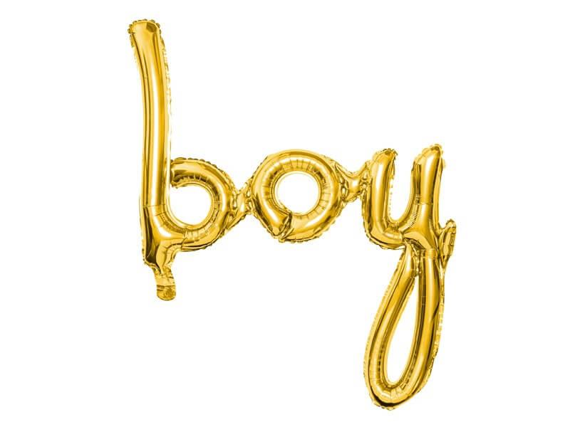 Ballon Métallique Boy Or 73x75cm