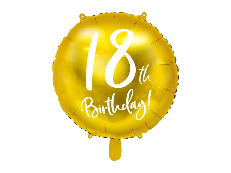 Ballon 18th Birthday Or ø45cm