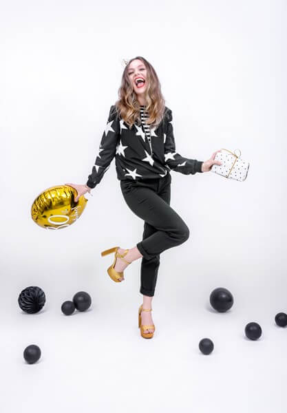 Ballon 30th Birthday Or ø45cm