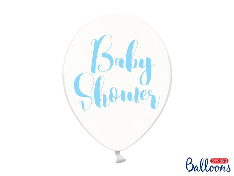 Lot de 10 ballons transparents avec Baby Shower