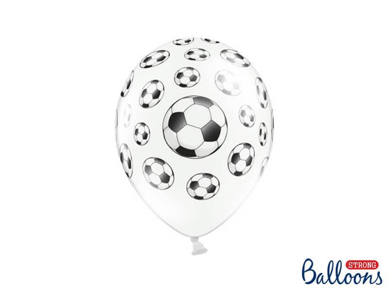 Ballons avec motifs Ballons de foot (Lot de 6)