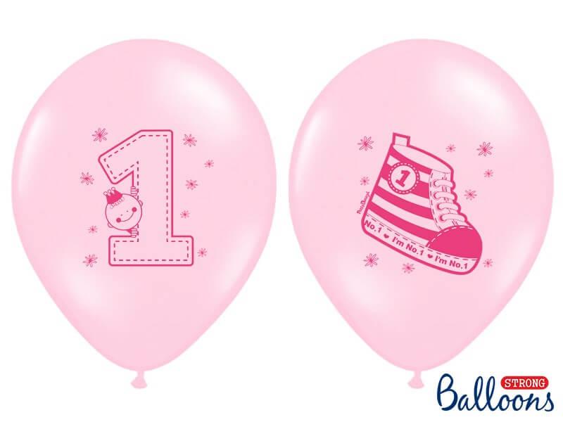 Lot de 10 Ballons Sneaker & Numero 1 Roses