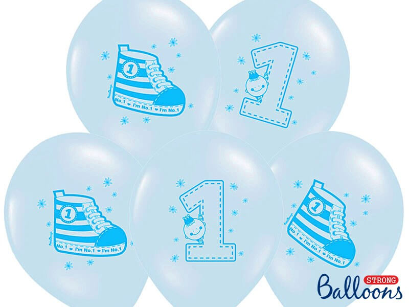 Lot de 10 Ballons Sneaker & Numero 1 Bleus