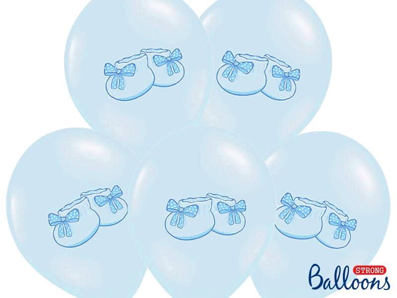 Lot de 6 Ballons Baby Sneaker Bleus