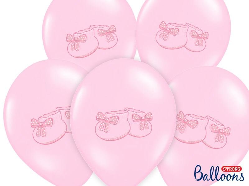 Lot de 10 Ballons Baby Sneaker Roses