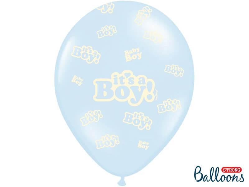 "Lot de 6 ballons ""It's a Boy"" Mix"