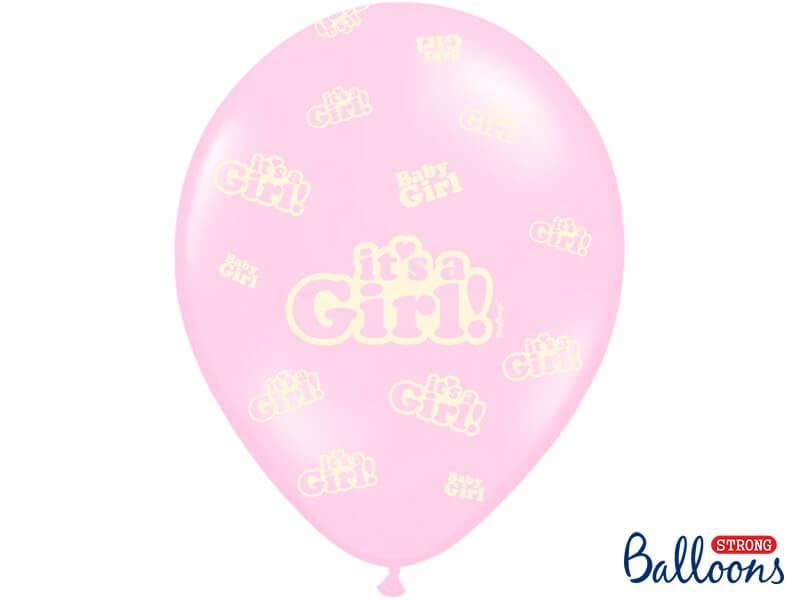 "Lot de 6 ballons ""It's a Girl"" Mix"