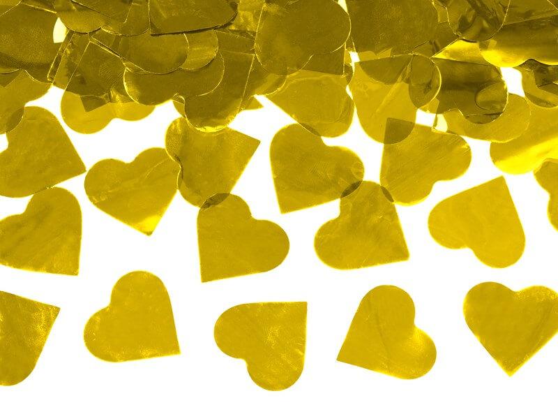 Canon confettis 60cm coeur or métallique
