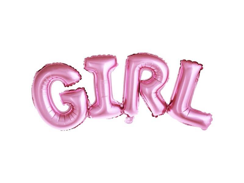 Ballon Métallique Girl Rose 74x33cm