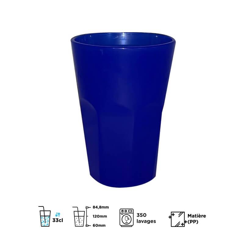 Verre Mojito 33cl bleu