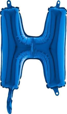 Ballon Lettre H Bleu