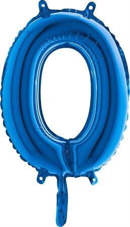 Ballon Lettre O Bleu