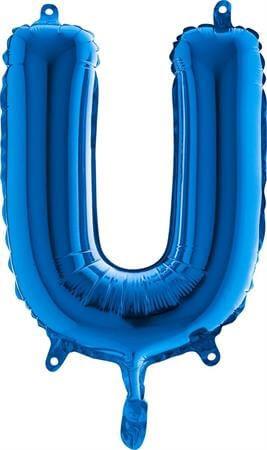 Ballon Lettre U Bleu : Ballon lettre bleu sur Sparklers Club