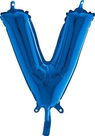 Ballon Lettre V Bleu : Ballon lettre bleu sur Sparklers Club