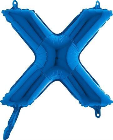 Ballon Lettre X Bleu - 35cm