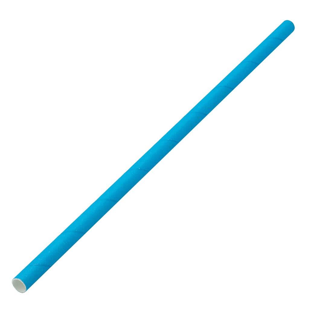 Paille papier bleue 20cm /ø6mm (250 pcs)