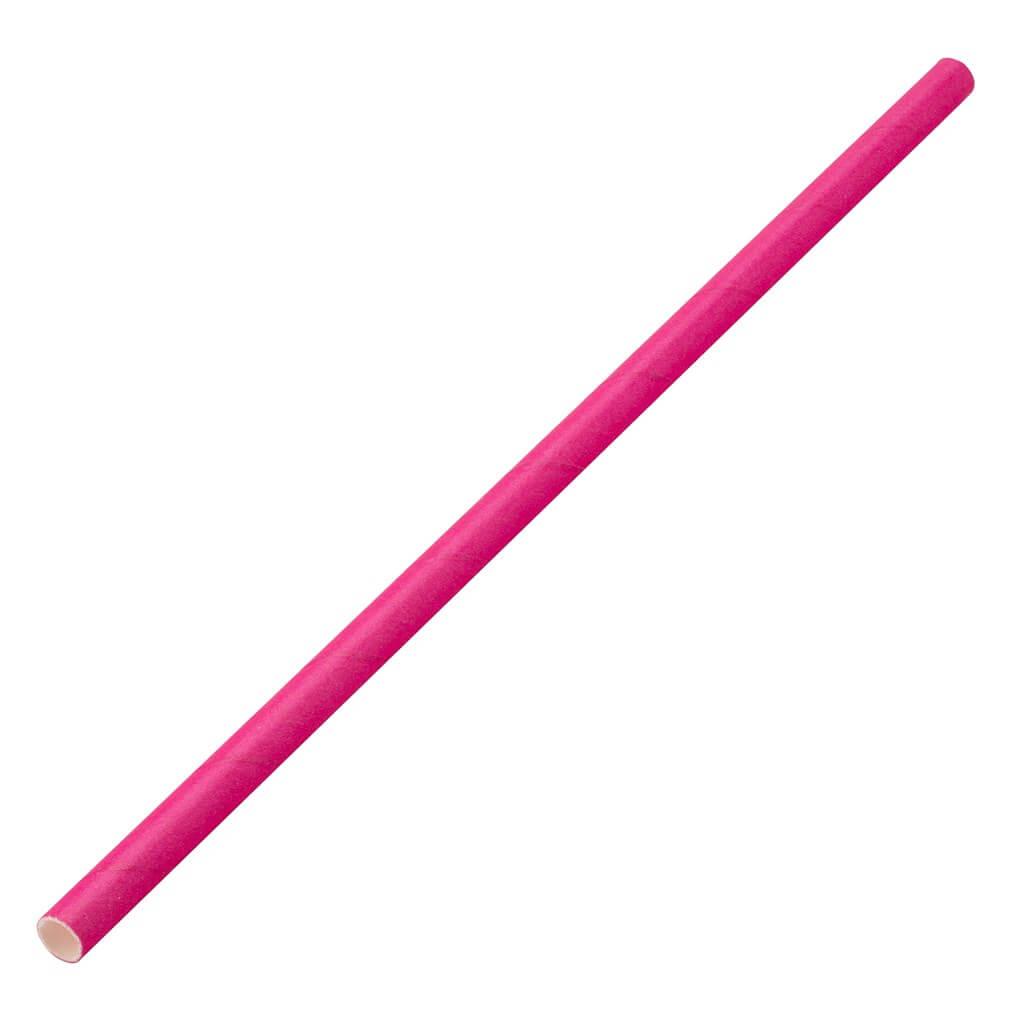 Paille papier rose 20cm /ø6mm (250 pcs)