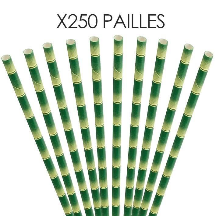 Paille papier bambou 20cm /ø6mm (250 pcs)