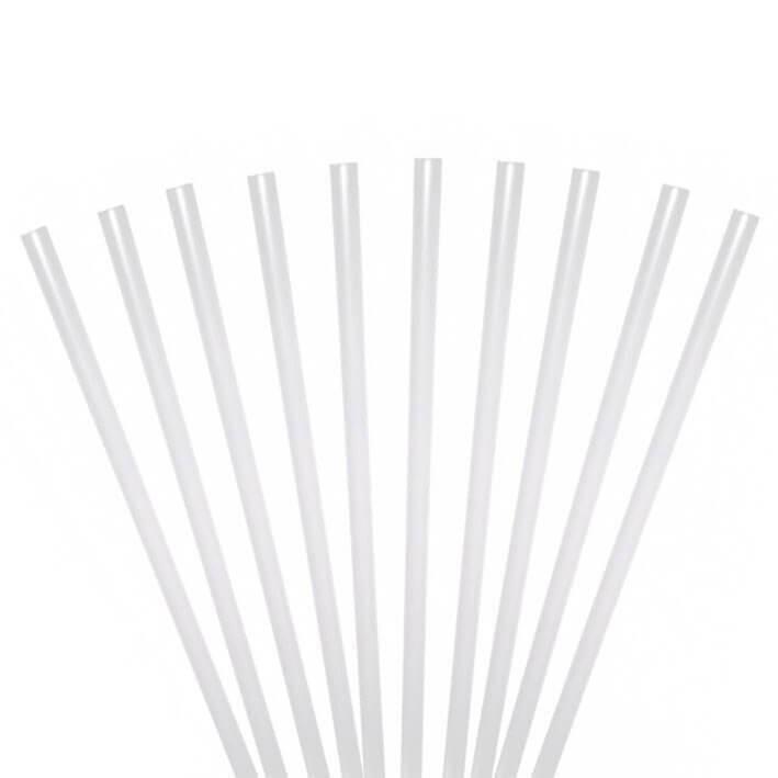 Paille Biodégradable PLA transparente 21cm /ø6mm (250pcs)