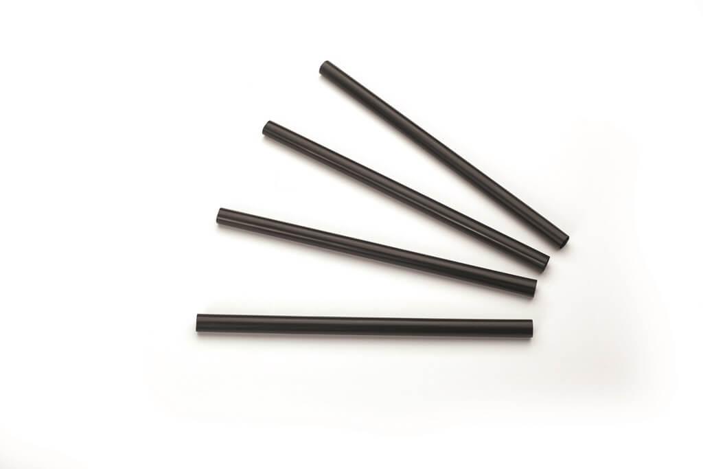 Paille Biodégradable PLA noire 14cm /ø7mm (250pcs)