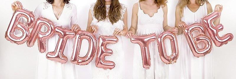 Ballon Bride To Be 340x35cm Or Rose