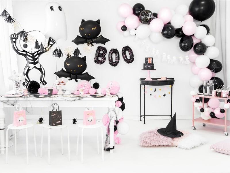Assiette en papier noire forme Tête de chat (Lot de 6)