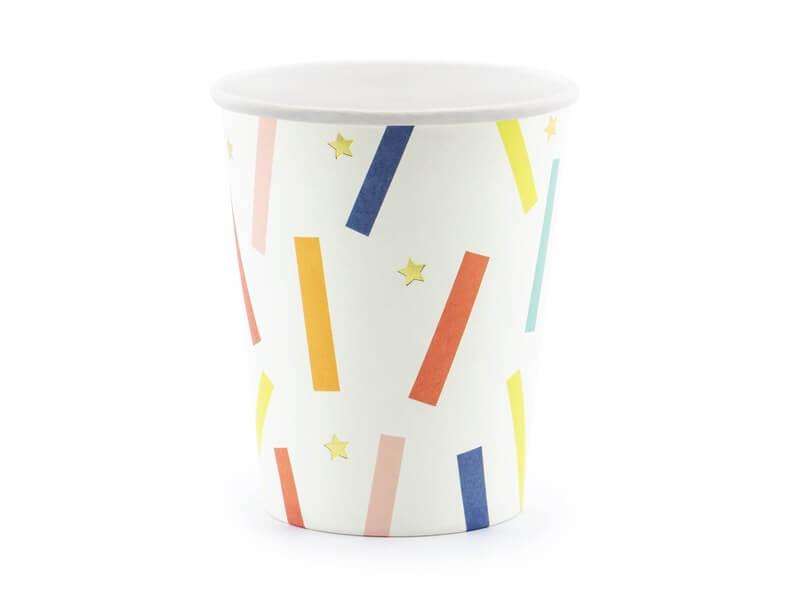 Gobelet en papier Fantaisie mix color (Lot de 6)