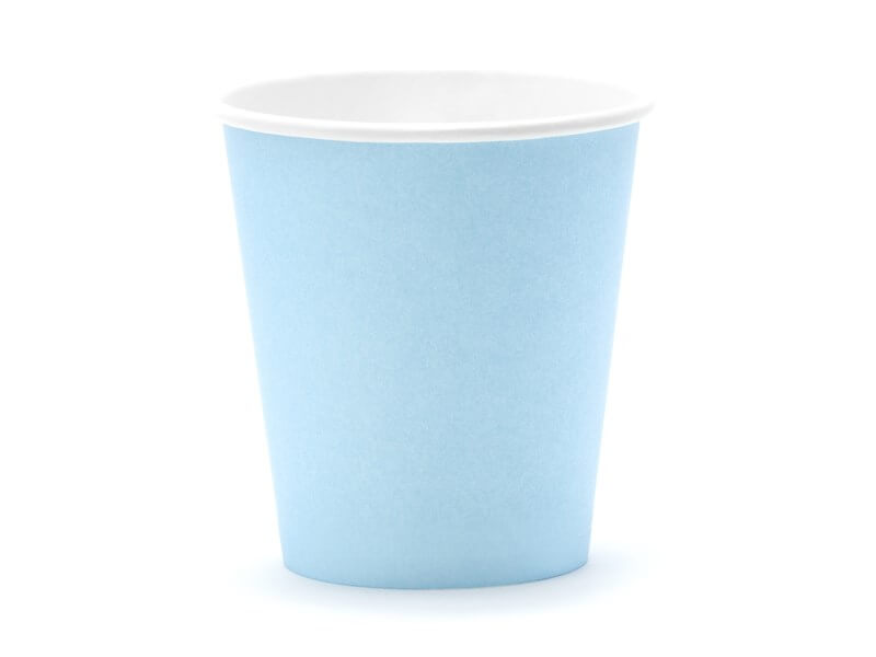Gobelet en papier bleu clair 18cl (Lot de 6)