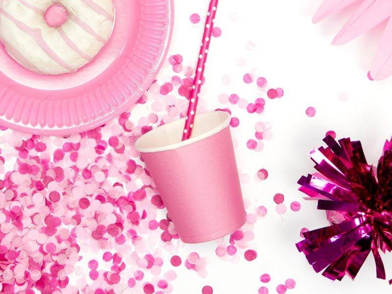 Gobelet en papier rose clair 18cl (Lot de 6)