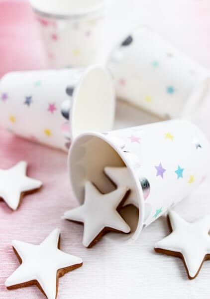 Gobelet en papier motif étoile 18cl (Lot de 6)