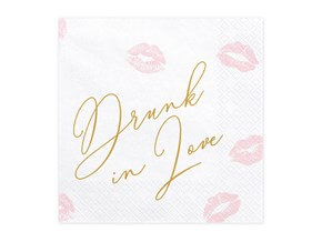 Serviette en papier Drunk in Love (Lot de 20)