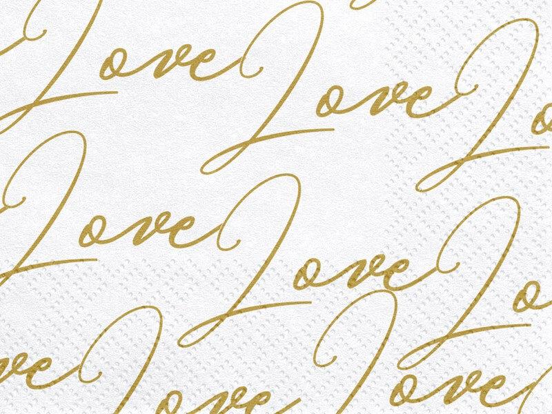"""Serviette en papier """"LOVE"""" (Lot de 20)"""